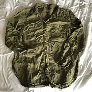 Olive button up shirt from Merona (Target brand)